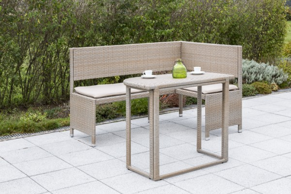 Adria Eckbank Set 2tlg., Gartenmöbel