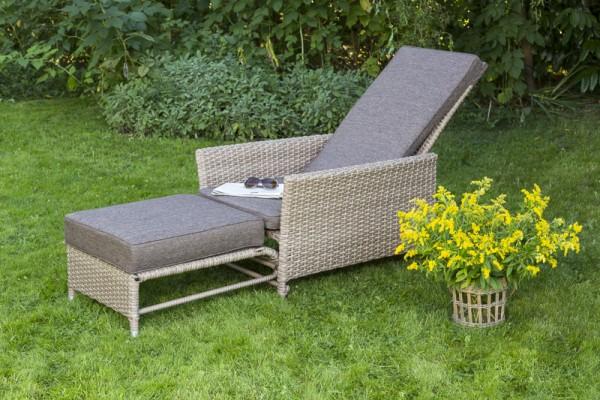 Nantes Komfortdeckchair, Gartenmöbel, Gartenliege